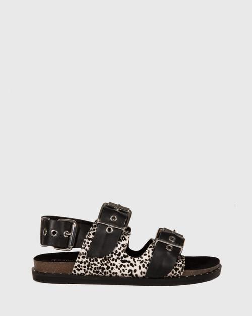 Fizz Animal Print Leather Double Buckle Sandal & Wittner & Wittner Shoes