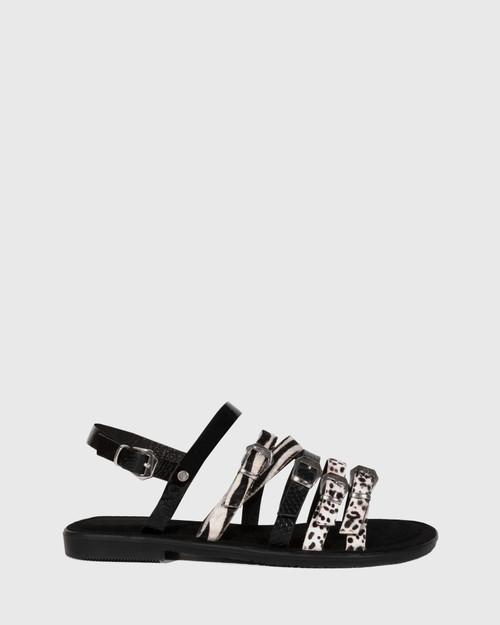 Festive Animal Print Leather Slingback Sandal & Wittner & Wittner Shoes