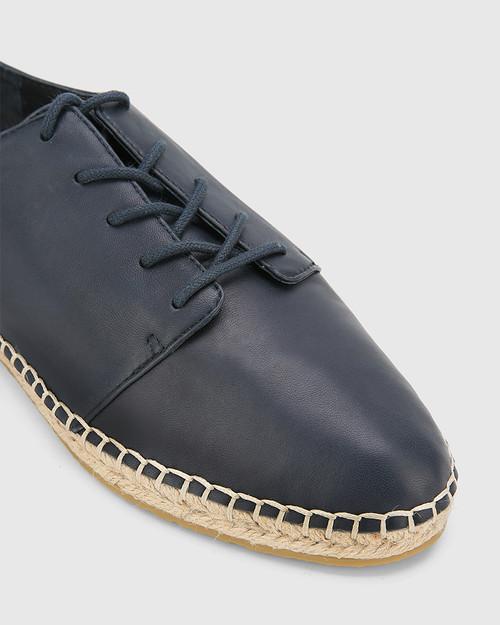 Ellam Riveria Blue Leather Espadrille Sneaker. & Wittner & Wittner Shoes