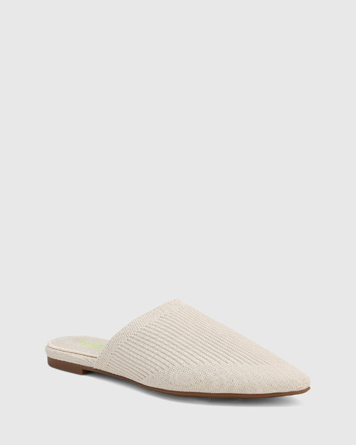 Picnic Vintage Ivory Recycled Knit Mule