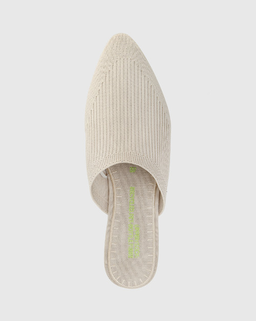 Picnic Vintage Ivory Recycled Knit Mule  & Wittner & Wittner Shoes