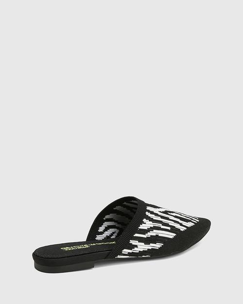 Picnic Zebra Print Recycled Knit Mule  & Wittner & Wittner Shoes