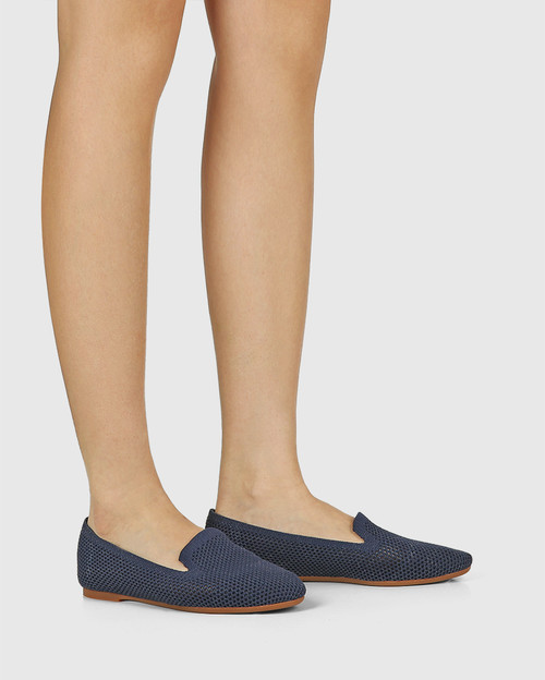 Ambition Oxford Blue Recycled Knit Loafer & Wittner & Wittner Shoes