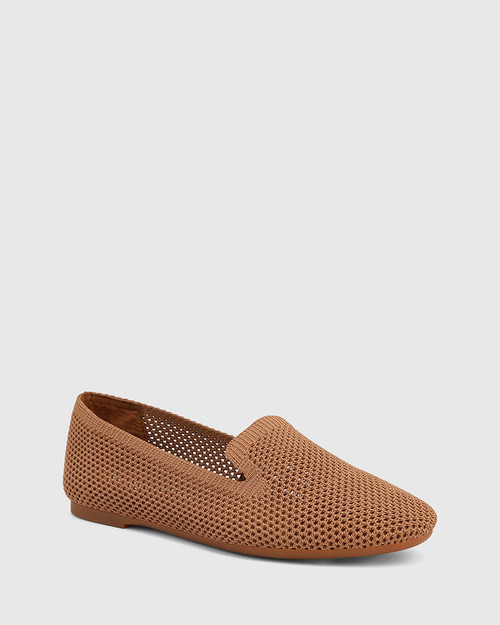 Ambition Tan Recycled Flyknit Loafer