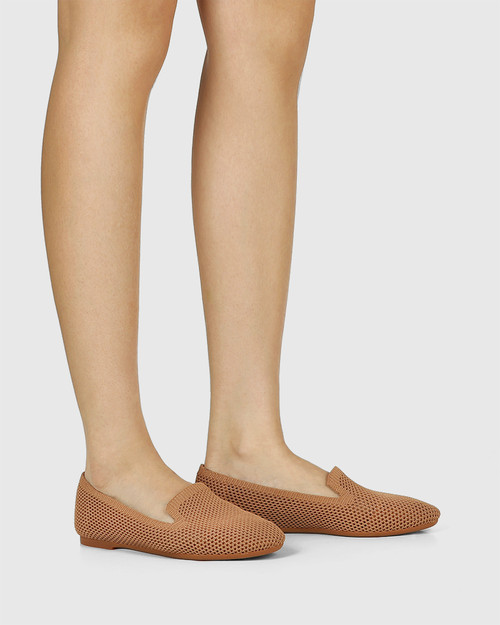 Ambition Tan Recycled Knit Loafer & Wittner & Wittner Shoes