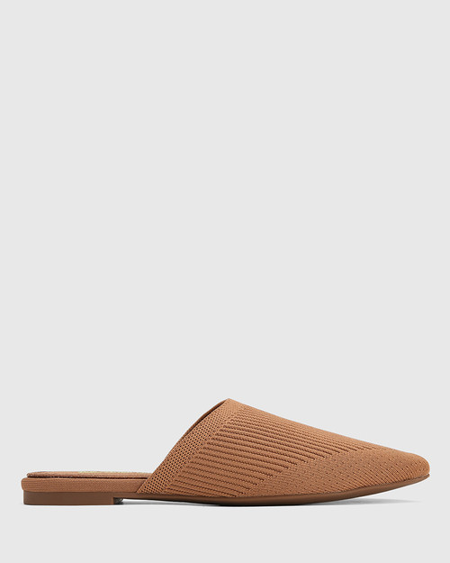 Picnic Tan Recycled Flyknit Mule
