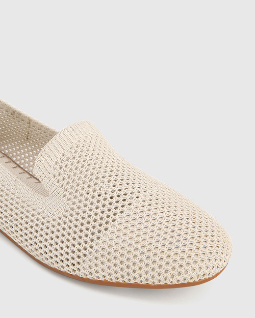 Ambition Vintage Ivory Recycled Knit Loafer & Wittner & Wittner Shoes