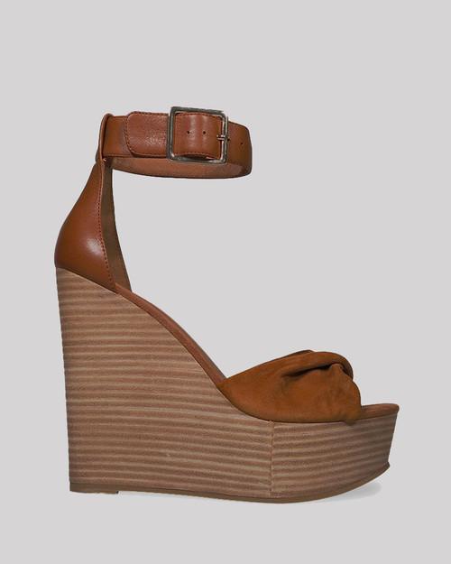 Winslet Tobacco Suede Wedge. & Wittner & Wittner Shoes