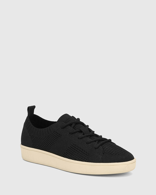 Gabrian Black Recycled Knit Sneaker