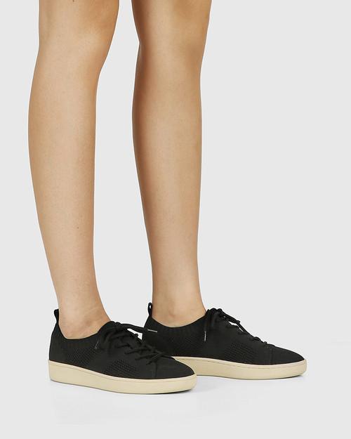 Gabrian Black Recycled Flyknit Sneaker