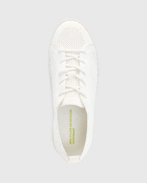 Gabrian White Recycled Knit Sneaker & Wittner & Wittner Shoes