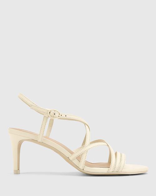Nhalo Buttercream Leather Stiletto Heel Sandal. & Wittner & Wittner Shoes