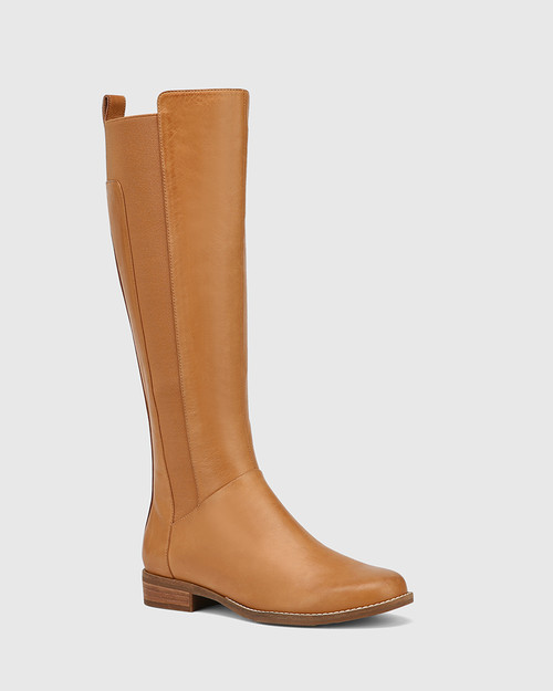 Cueva Coconut Leather Round Toe Long Boot