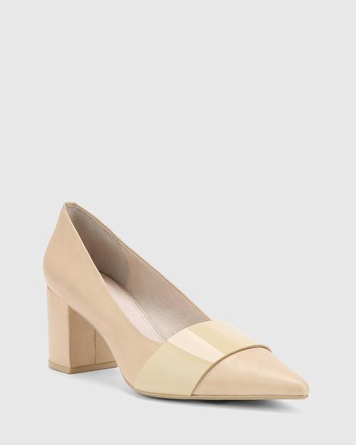 Danko Honey Leather Pointed Toe Block Heel