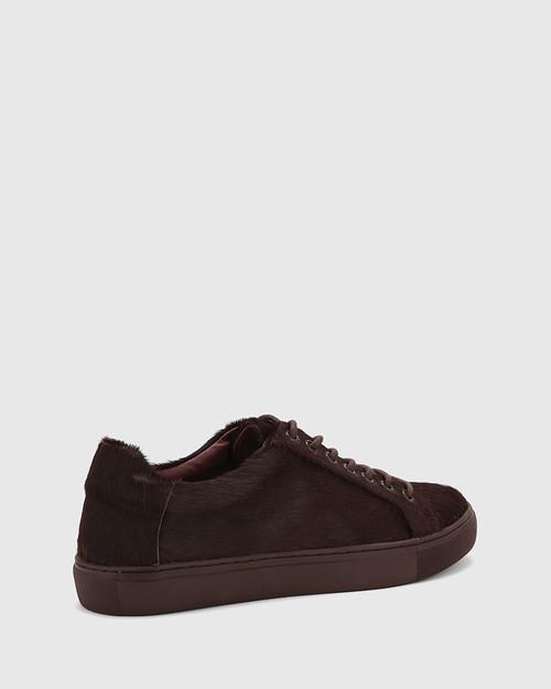 Barker Plum Hair-On Leather Sneaker. & Wittner & Wittner Shoes