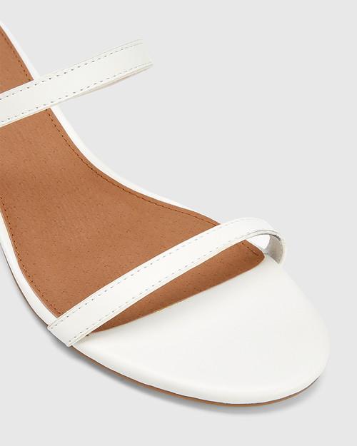 Jay White Leather Low Stiletto Sandal. & Wittner & Wittner Shoes
