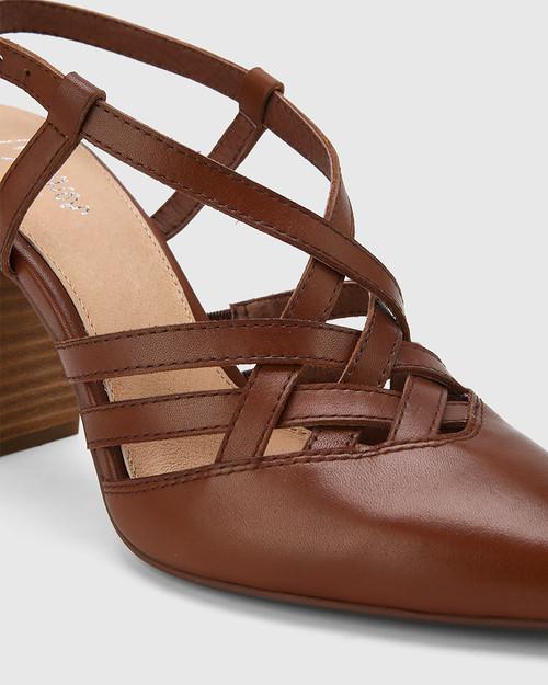 Hao Cedar Leather Pointed Toe Block Heel. & Wittner & Wittner Shoes