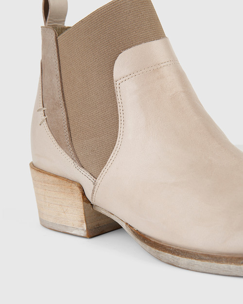 Memphis Grey Leather and Suede Gusset Ankle Boot. & Wittner & Wittner Shoes