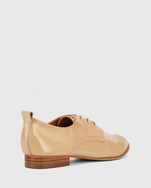 Dawes Nude Patent Brogue. & Wittner & Wittner Shoes