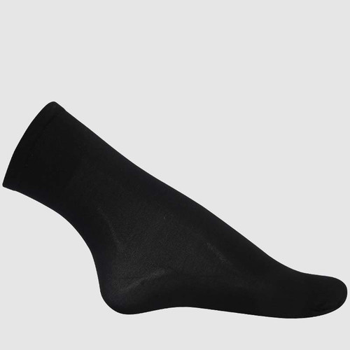 3/4 Sock Trio in Black Nylon.