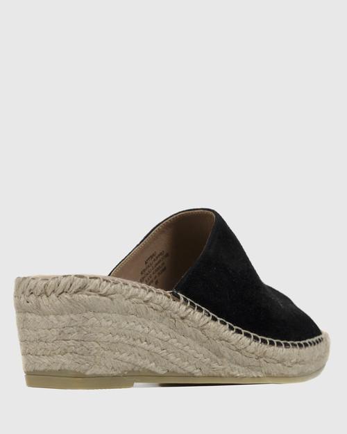 Unetta Black Suede Espadrille Wedge. & Wittner & Wittner Shoes