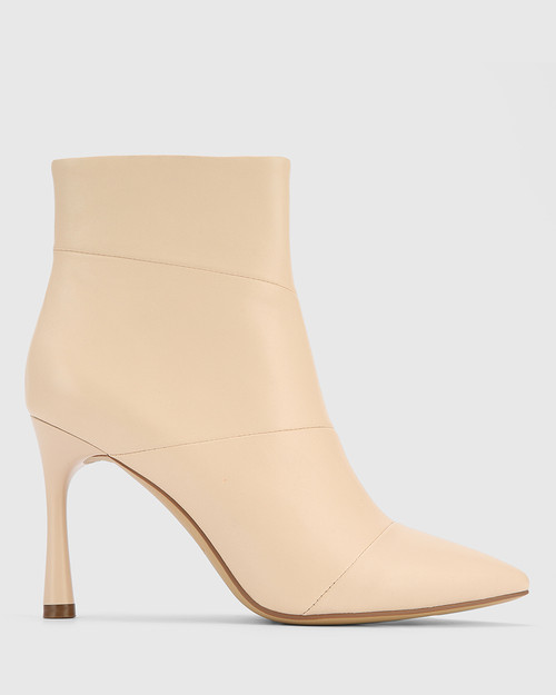 Havita Pearl Leather Pointed Toe Stiletto Ankle Boot. & Wittner & Wittner Shoes