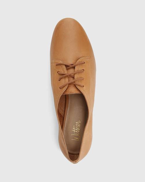 Celsa Coconut Leather Lace Up Brogue & Wittner & Wittner Shoes