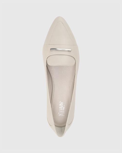 Porsha Fog Nappa Leather Pointed Toe Flat. & Wittner & Wittner Shoes