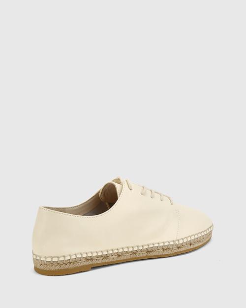 Ellam Buttercream Leather Espadrille Sneaker. & Wittner & Wittner Shoes