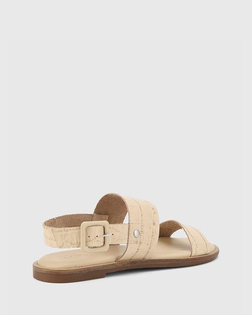 Chastity Honey Croc-Embossed Leather Sandal & Wittner & Wittner Shoes