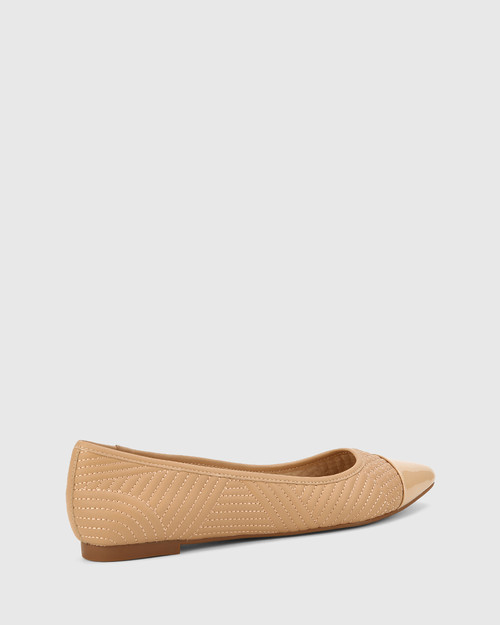 Egan Natural Leather Slip On Flat. & Wittner & Wittner Shoes