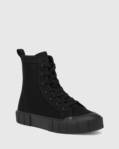 Xola Black Canvas High Top Sneaker