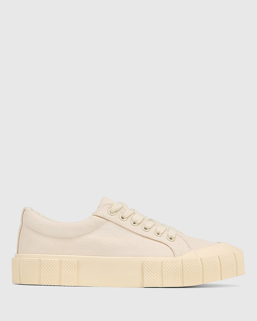 Xylon Sand Canvas Lace Up Sneaker & Wittner & Wittner Shoes