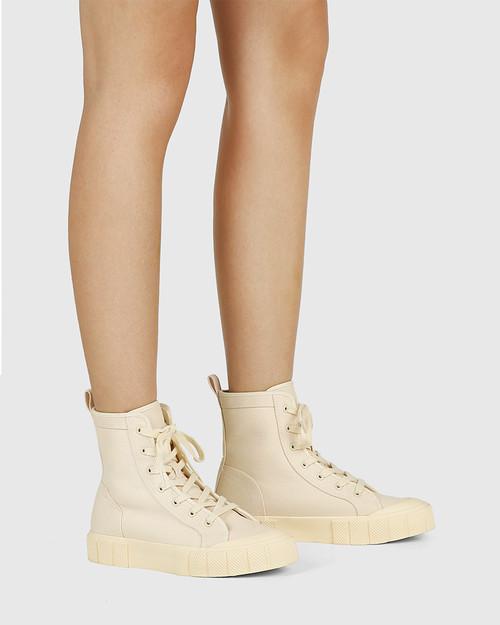 Xola Sand Canvas High Top Sneaker