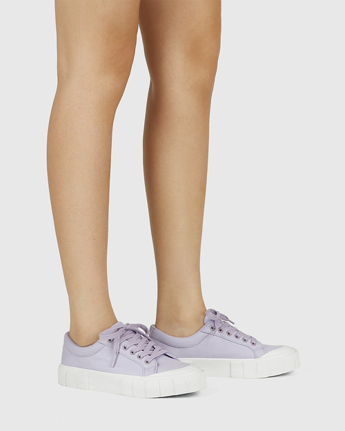 Xylon Lavender Canvas Lace Up Sneaker & Wittner & Wittner Shoes