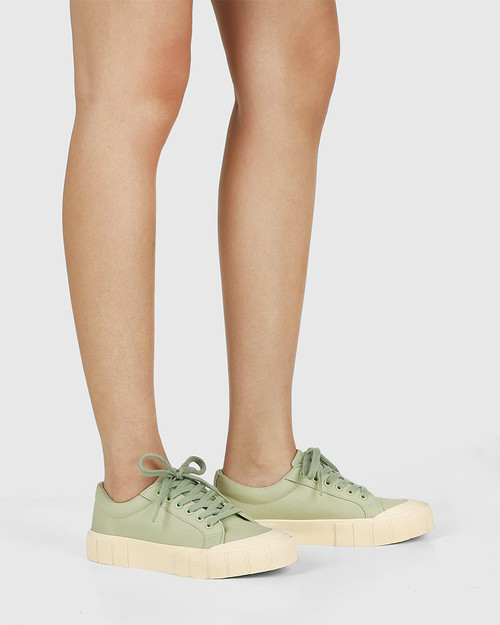 Xylon Sage Canvas Lace Up Sneaker & Wittner & Wittner Shoes
