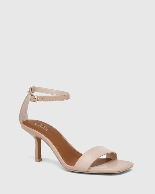 Charmed New Flesh Leather Ankle Strap Sandal