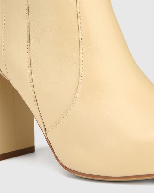 Hansina Sand Leather Over The Knee Boot & Wittner & Wittner Shoes