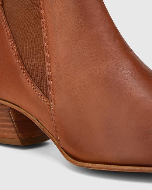 Starr Brandy Leather Western Chelsea Boot & Wittner & Wittner Shoes