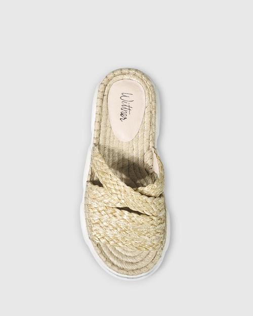 Eviana Natural Weave Open Toe Slide. & Wittner & Wittner Shoes