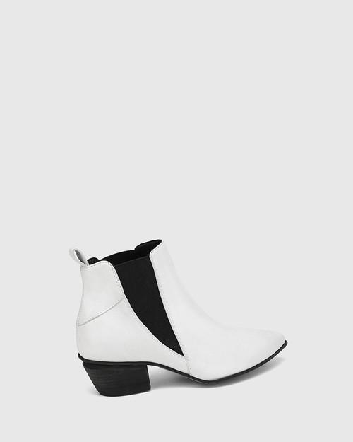 Starr White Leather Western Chelsea Boot & Wittner & Wittner Shoes