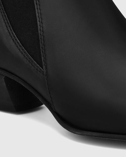 Starr Black Leather Western Chelsea Boot & Wittner & Wittner Shoes