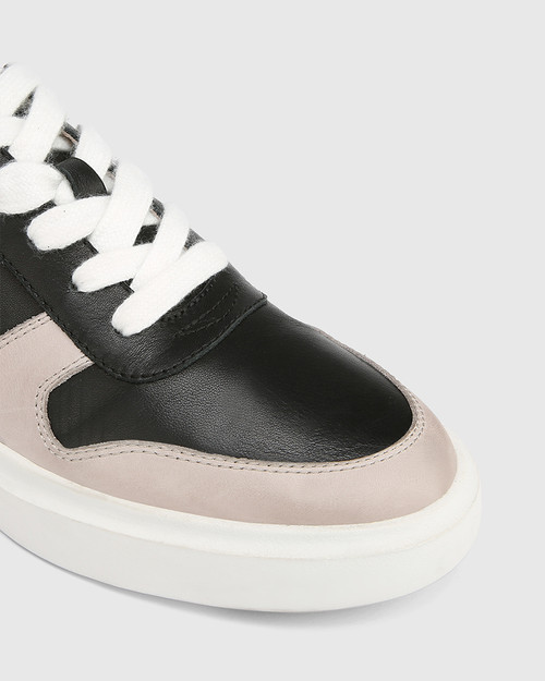Slater Black with Stone and White Leather Sneaker & Wittner & Wittner Shoes