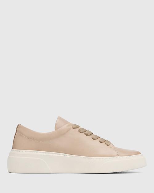 Saga Blush Leather Lace Up Sneaker & Wittner & Wittner Shoes