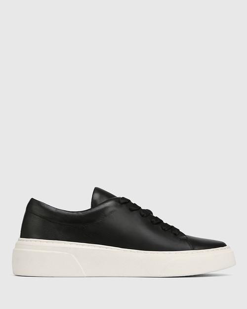 Saga Black Leather Lace Up Sneaker & Wittner & Wittner Shoes