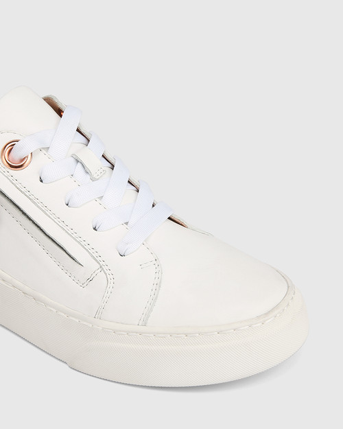 Soul White with Rose Gold and Snake Print Leather Sneaker & Wittner & Wittner Shoes