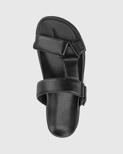 Brione Black Leather Triangle Detail Slide. & Wittner & Wittner Shoes