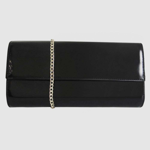 Lydia Black Patent Clutch