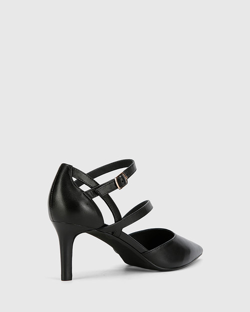Delby Black Nappa Leather Pointed Toe Stiletto Heel. & Wittner & Wittner Shoes