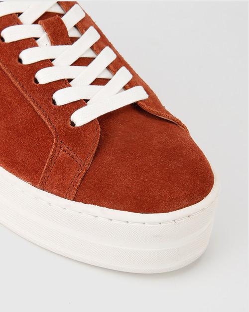 Francisco Rust Suede Flatform Sneaker. & Wittner & Wittner Shoes